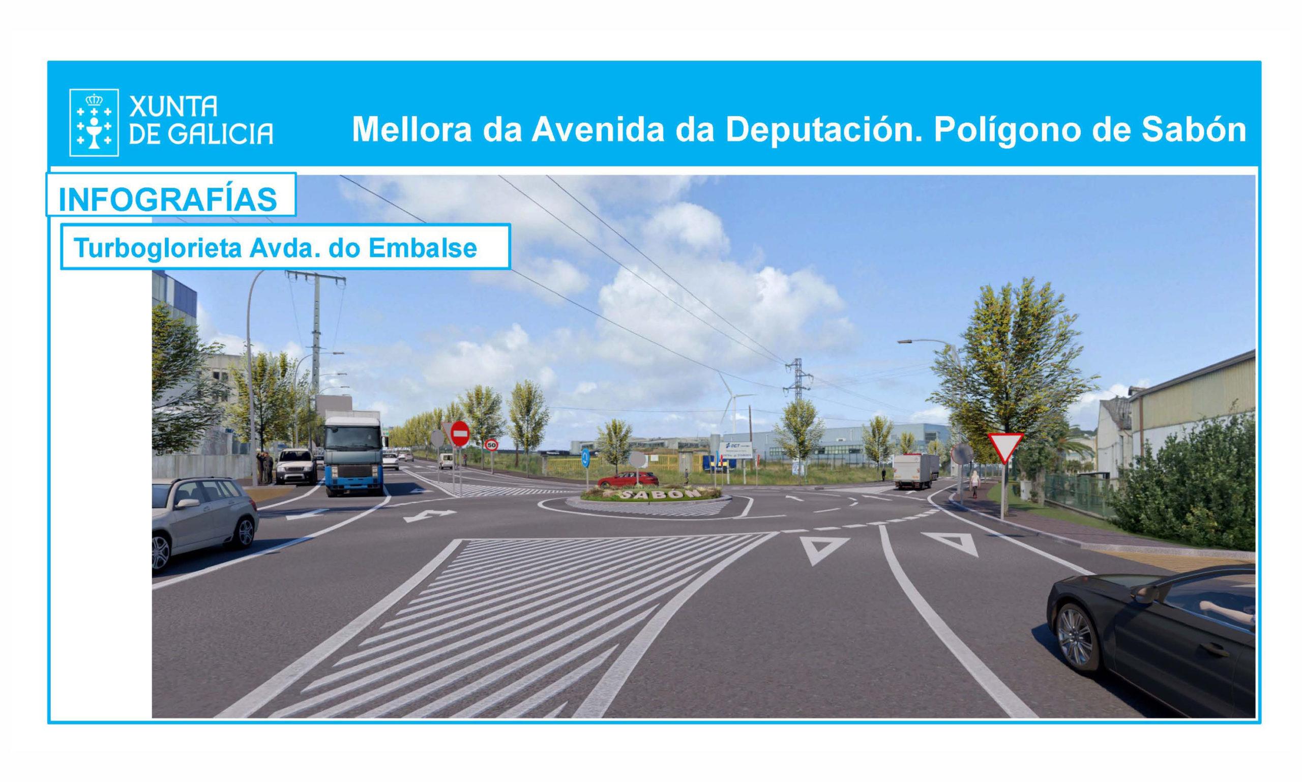 La Xunta licita las obras de ampliación de la Avda. Diputación para mejorar el principal acceso al Polígono de Sabón